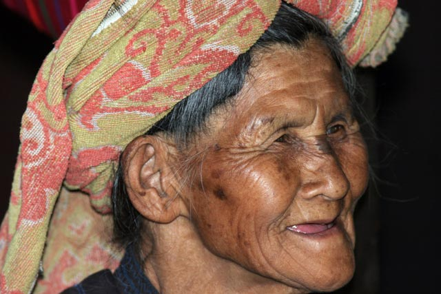 Woman from Pa-O hill tribe. Villages around Inle Lake. Myanmar (Burma).