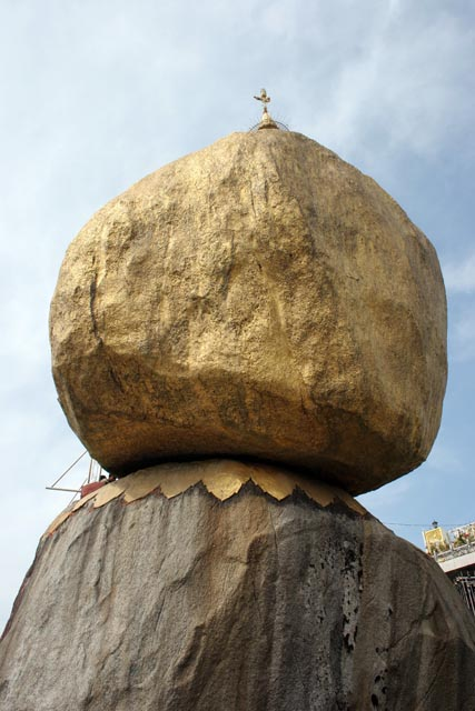 Stupa called Kyaiktiyo (Golden rock). Myanmar (Burma).