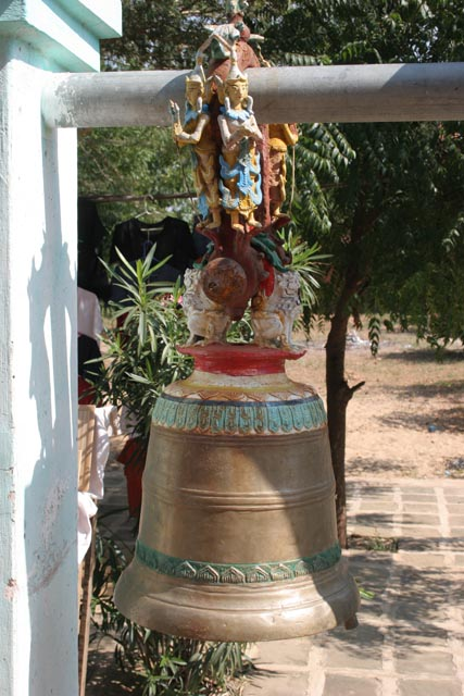 Bell at one of the Temples of Bagan. Myanmar (Burma).
