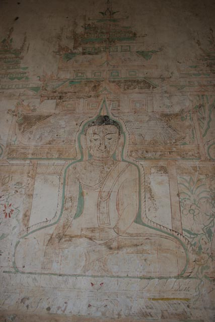 Some Bagan temples are still decorated insight. Myanmar (Burma).