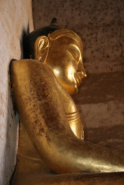 Buddha statue at the Temples of Bagan. Myanmar (Burma).