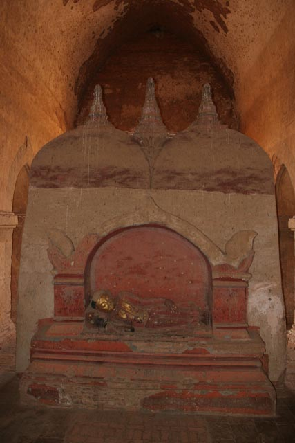Interior of one of the Temples of Bagan. Myanmar (Burma).