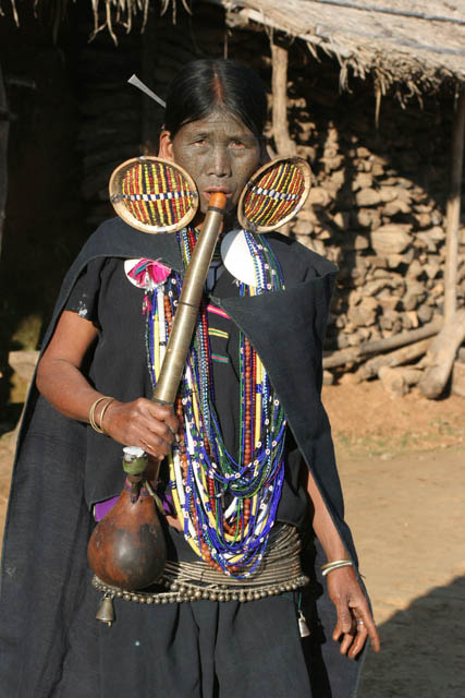 Woman from Makan Chin tribe, Mindat village, Chin State. Myanmar (Burma).