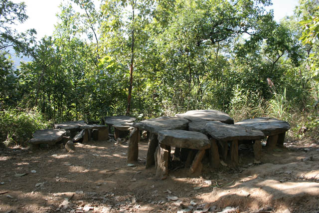 Traditional graves of Chin people. Chin State. Myanmar (Burma).