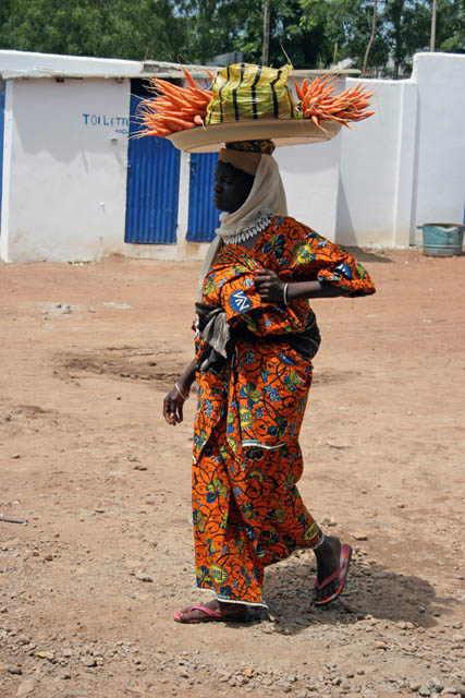 Street seller at Parakou town. Benin.