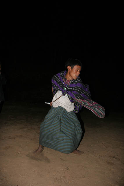 Traditional dance of Chin people. Aye village, Chin State. Myanmar (Burma).
