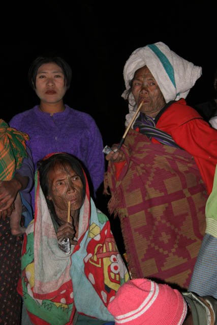 Women from Munn Chin tribe. Aye village, Chin State. Myanmar (Burma).
