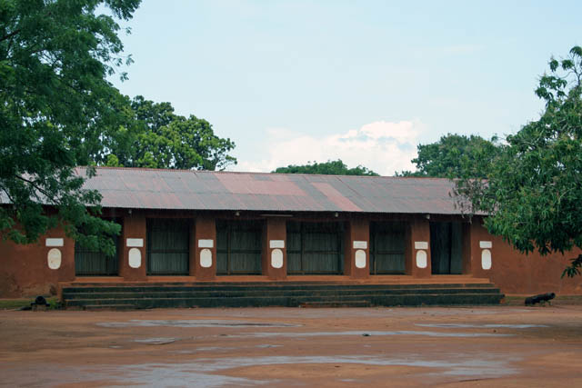 Palace of Dahomey kings at Abomey town. Benin.