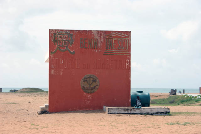 "Memorial ""Point of No Return"". Place where Road of the saves (Route des Esclaves) finished, Ouidah town. Benin."