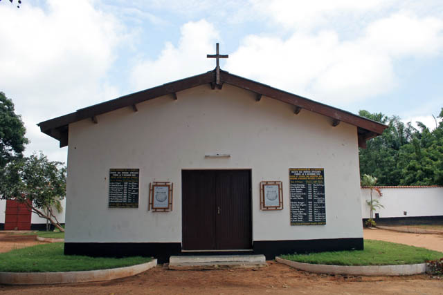 Church inside fort at Ouidah town. Benin.