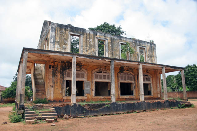 Colonial architecture at Ouidah town. Benin.