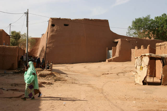 Original fortification of Agadez town. Niger.