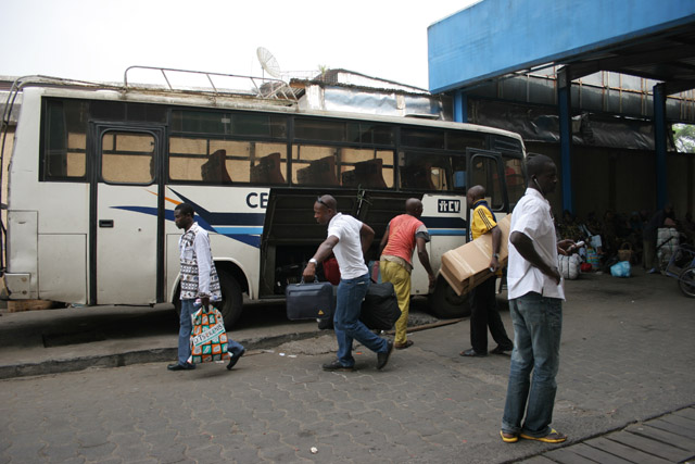 Bus station, Douala. Cameroon.
