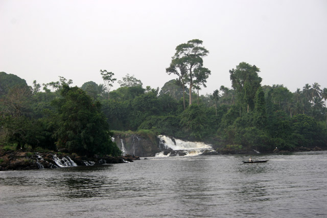 Lobe Falls is one of the few places in the world where waterfalls drop directly into the ocean. Cameroon.