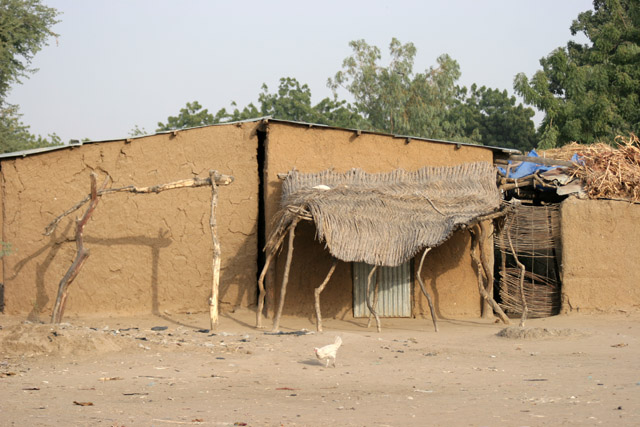 Traditional muddy-house. Lake Chad area. Cameroon.
