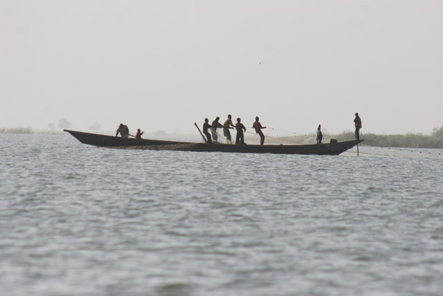 Fishermen on the Lake Chad. Cameroon.