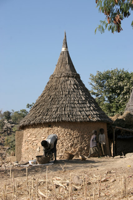 Mountain village Djingliya at Mandara Mountains. Cameroon.