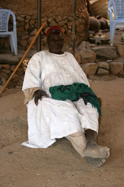 Local king of Oudjilla village. This king has 50 wives and many children. Cameroon.