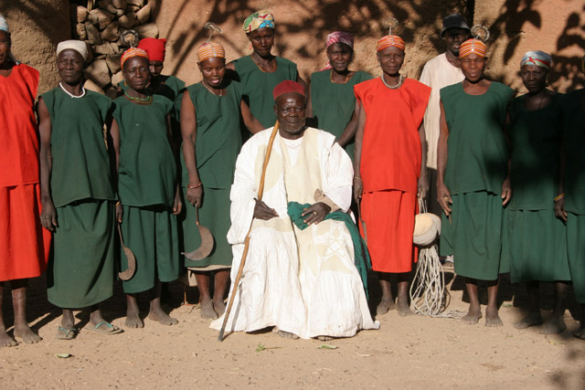 King with his wives. Oujilla village at Mandara Mountains. Cameroon.