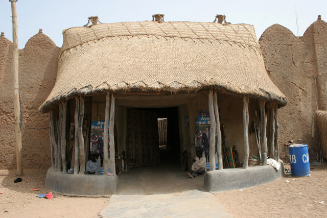 Entrance to king's palace at Rey Bouba. Cameroon.