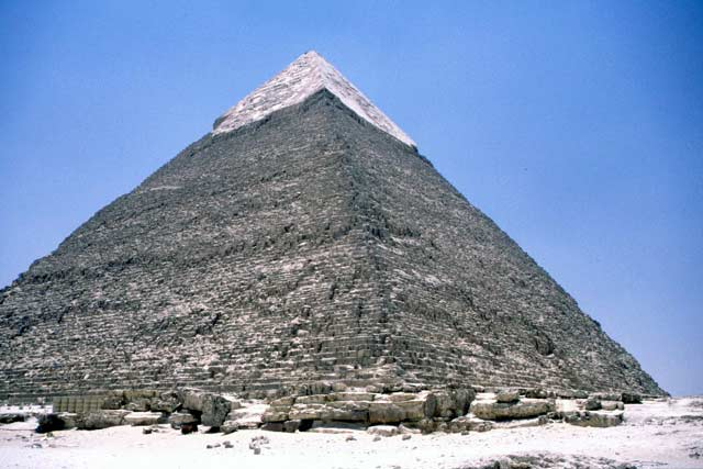 Pyramid of Chephren. Egypt.