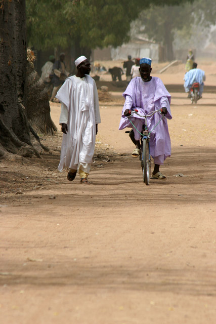At street at Rey Bouba village. Cameroon.