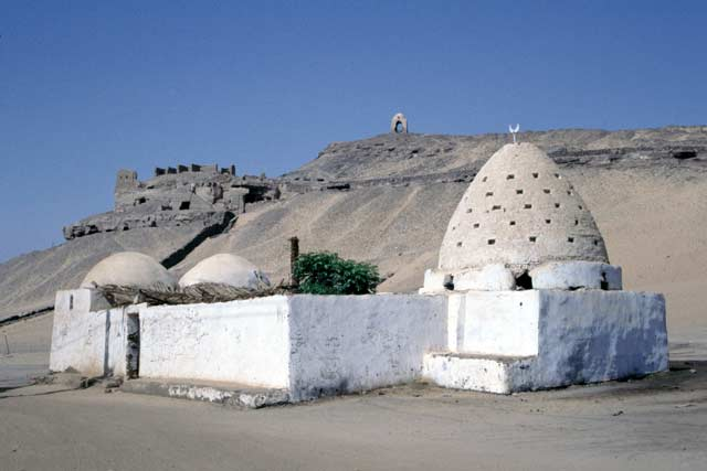 Mosque in nubian village near Aswan. Egypt.