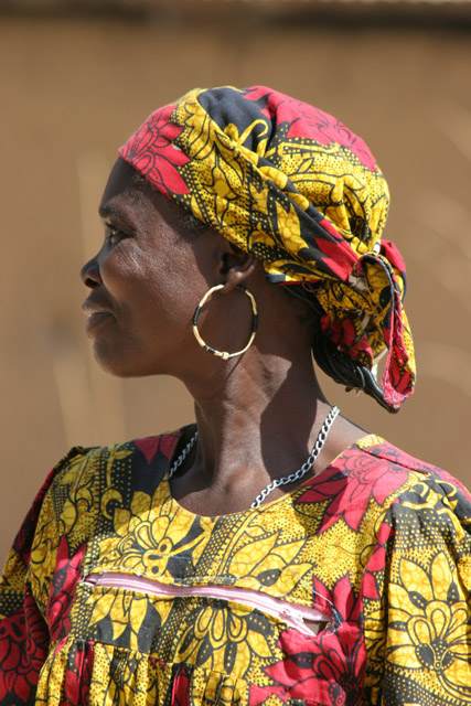 Woman at Tourou village at Mandara Mountains. Cameroon.