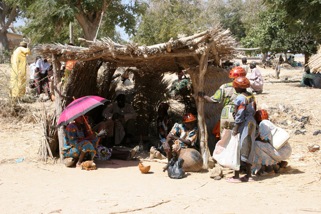 Market at Tourou village at Mandara Mountains. Cameroon.