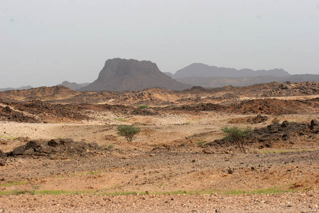 Landscape at Sahara desert at Air Mountain area. Niger.