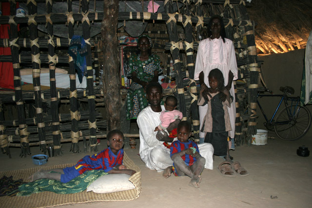 Inside local traditional house. Waza National Park area. Cameroon.