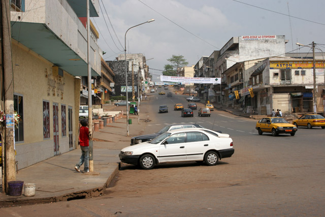 Street at Yaounde capital. Cameroon.