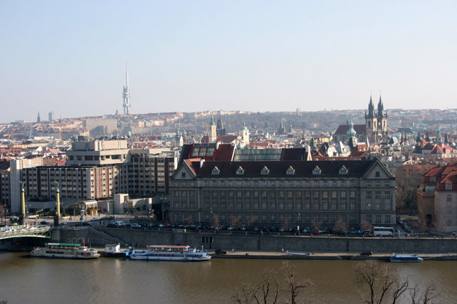 Panoramic view from Letna, Praha. Czech Republic.