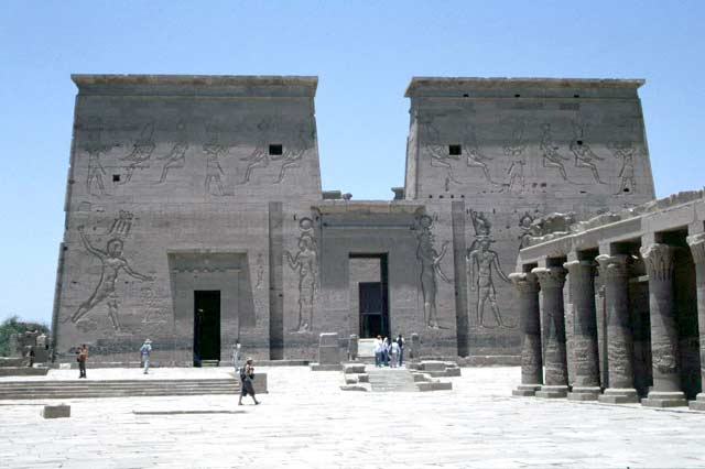 Temple of Philae near Aswan. Egypt.