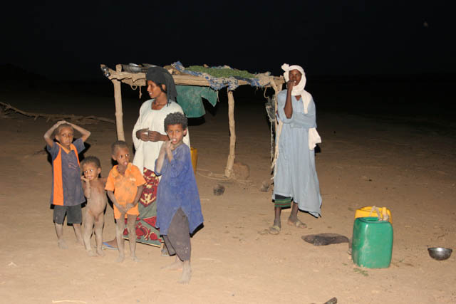 Evening at campement of nomad Tuareg. Sahara desert. Niger.