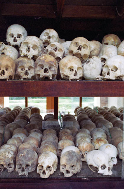 Killing fields (Choeung Ek) - prisoner camp near Phnom Penh from period of Pol Pot regime. Cambodia.