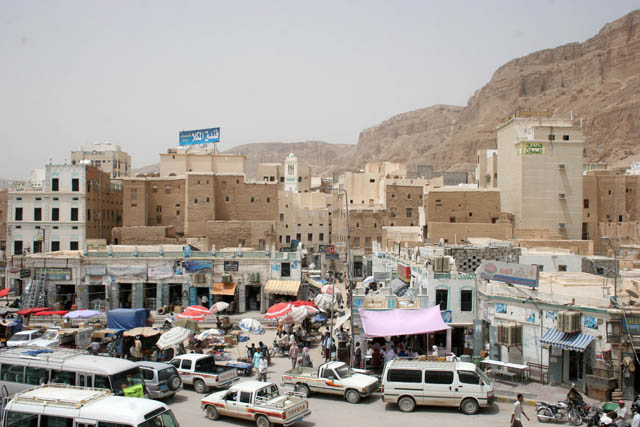 Center of Sayun town at Wadi Hadramawt area. Yemen.