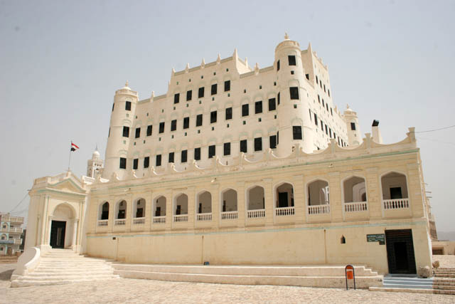 Sulatan palace at Sayun town at Wadi Hadramawt area. Yemen.