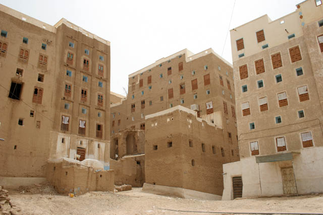 Shibam town called Manhattan of desert. Most of local houses are mudy-skyscrapers. Wadi Hadramawt area. Yemen.
