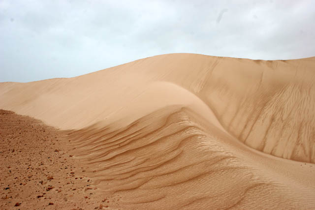 Sand dunes at south coast of Socotra (Suqutra) island. Yemen.