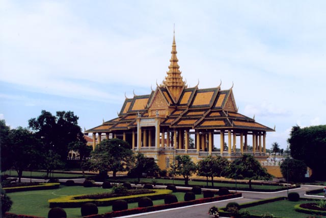 Royal palace in Phnom Penh. Cambodia.