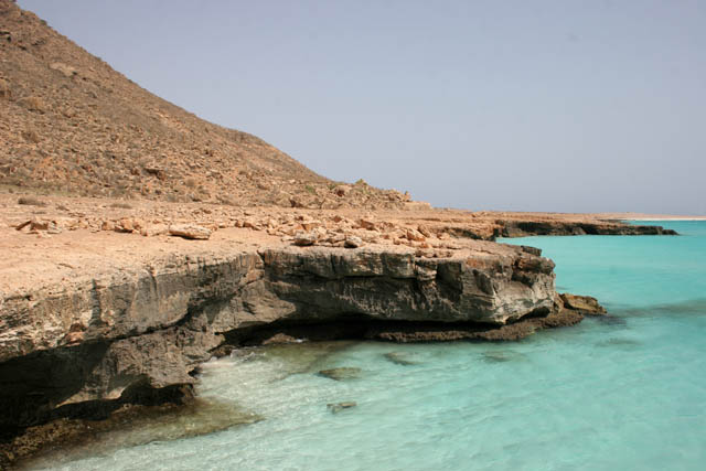 North coast of Socotra (Suqutra) island and Arabian sea. Yemen.