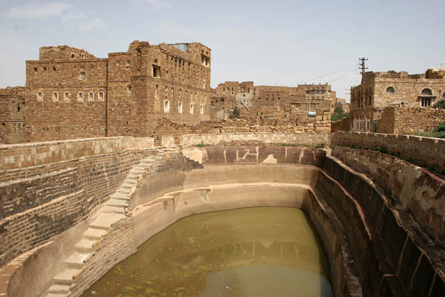 Cistern - water reserve (even drinking) for all habitats of the village. This cistern is from Thilla (Thula) village. Yemen.
