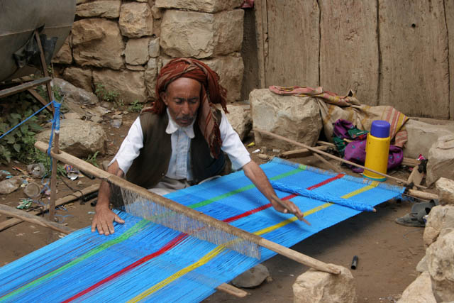 Weaver from Hababah village. Yemen.