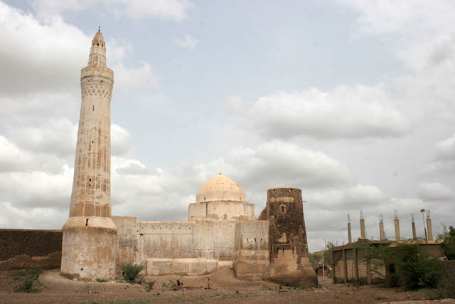 Al-Iskandar Mosque - one of the many old mosque at the Zabid town. Yemen.