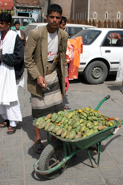 It is possible to sell everything on the street. Sana city. Yemen.