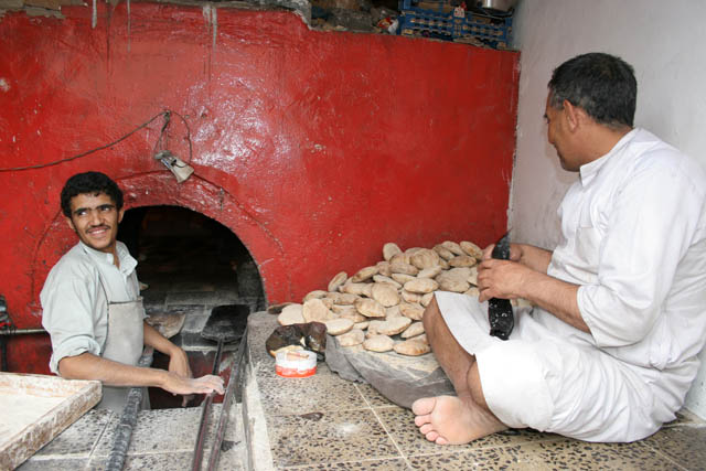 Bread bakery. Sana city. Yemen.
