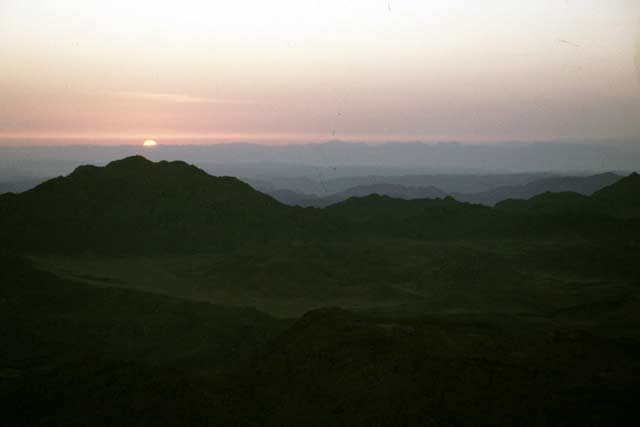 Sunrising at Mt. Sinai. Egypt.