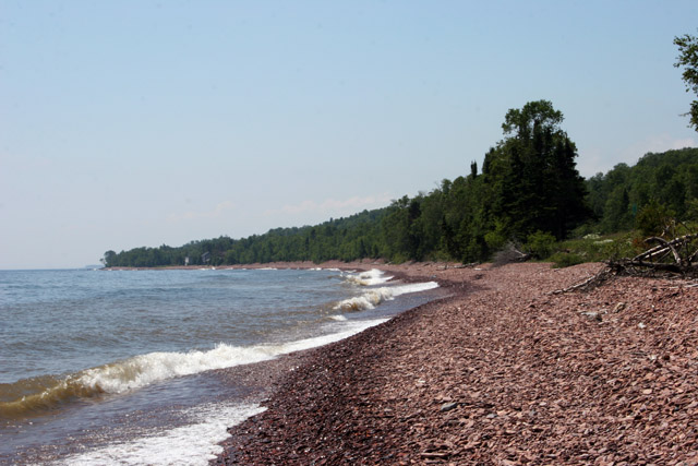 Lake Superior, the largest freshwater lake in the world by surface area, North Shore, Minnesota. United States of America.