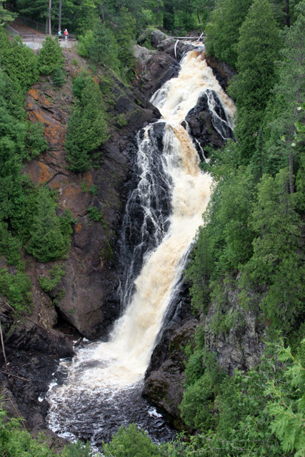 Big Manitou Fall, 165 foot tall, Wisconsin. United States of America.